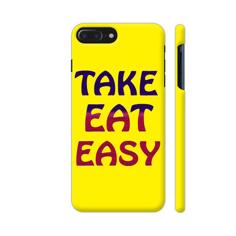 Take Eat Easy On Yellow iPhone 8 Plus Cover | Artist: Malls