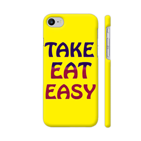 Take Eat Easy On Yellow iPhone 8 Cover | Artist: Malls