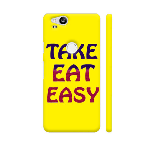 Take Eat Easy On Yellow Google Pixel 2 Cover | Artist: Malls