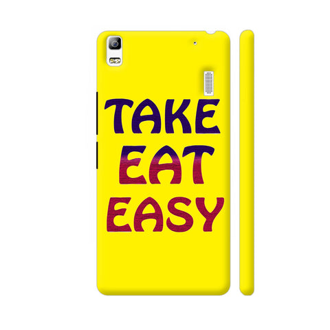 Take Eat Easy On Yellow Lenovo A7000 Cover | Artist: Malls
