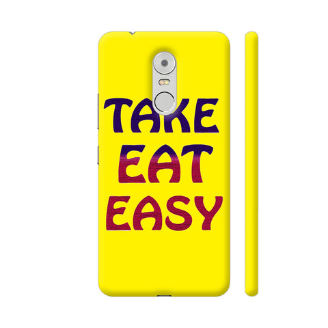 Take Eat Easy On Yellow Lenovo K6 Note Cover | Artist: Malls