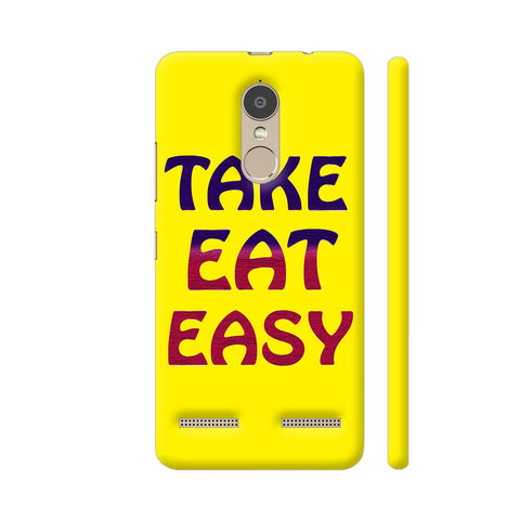 Take Eat Easy On Yellow Lenovo K6 Power Cover | Artist: Malls