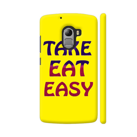 Take Eat Easy On Yellow Lenovo K4 Note Cover | Artist: Malls