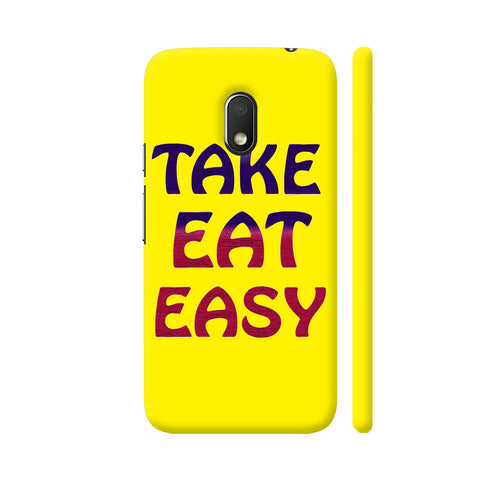 Take Eat Easy On Yellow Moto G4 Play Cover | Artist: Malls