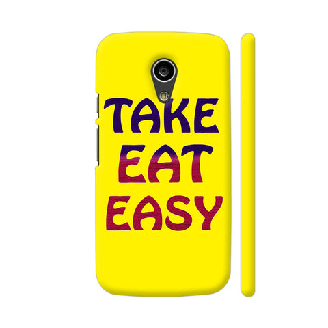 Take Eat Easy On Yellow Moto G2 Cover | Artist: Malls