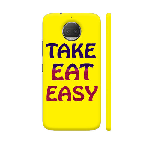 Take Eat Easy On Yellow Moto G5S Plus Cover | Artist: Malls