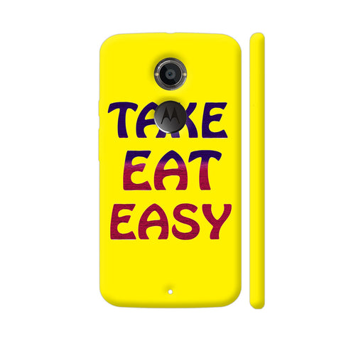 Take Eat Easy On Yellow Moto X2 Cover | Artist: Malls