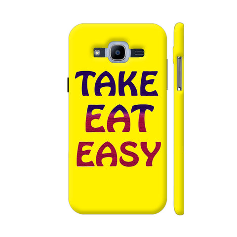Take Eat Easy On Yellow Samsung J2 Pro Cover | Artist: Malls