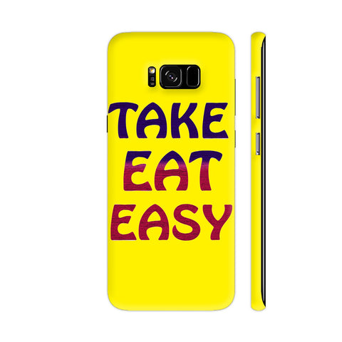 Take Eat Easy On Yellow Samsung S8+ Cover | Artist: Malls