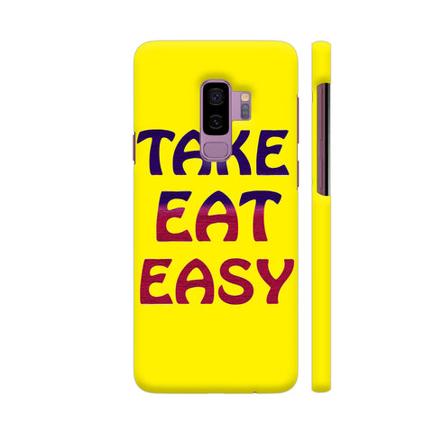 Take Eat Easy On Yellow Samsung S9+ Cover | Artist: Malls