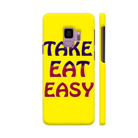 Take Eat Easy On Yellow Samsung S9 Cover | Artist: Malls