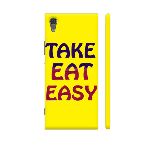 Take Eat Easy On Yellow Sony Xperia XA1 Cover | Artist: Malls