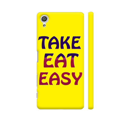 Take Eat Easy On Yellow Sony Xperia X Cover | Artist: Malls