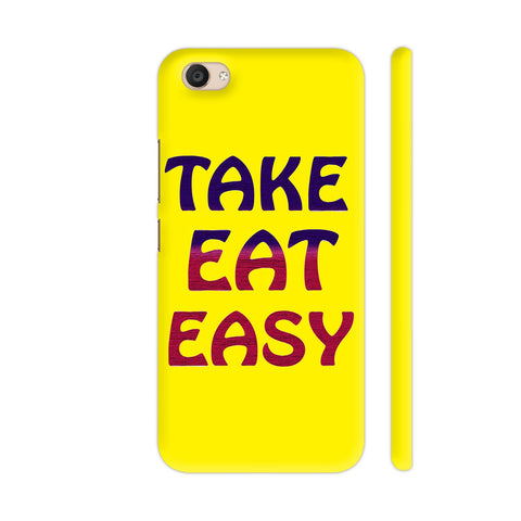 Take Eat Easy On Yellow Vivo V5 Plus Cover | Artist: Malls
