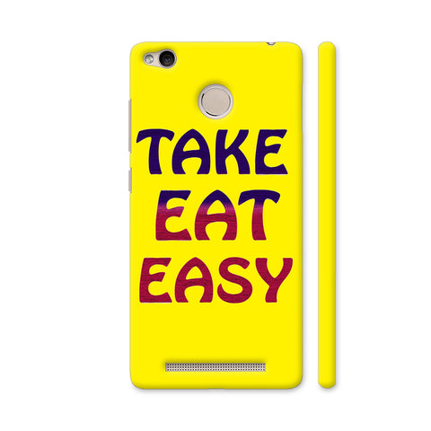 Take Eat Easy On Yellow Redmi 3S Prime Cover | Artist: Malls