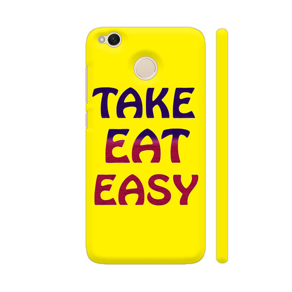 Take Eat Easy On Yellow Xiaomi Redmi 4 Cover | Artist: Malls
