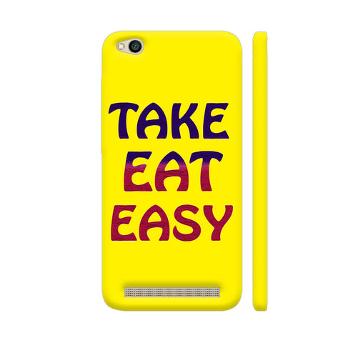 Take Eat Easy On Yellow Redmi 5A Cover | Artist: Malls