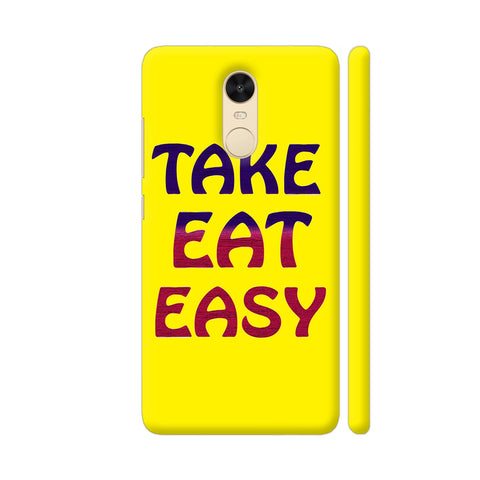 Take Eat Easy On Yellow Redmi Note 4 Cover | Artist: Malls