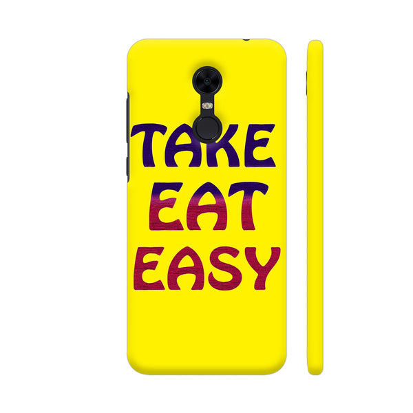 Take Eat Easy On Yellow Redmi Note 5 Cover | Artist: Malls