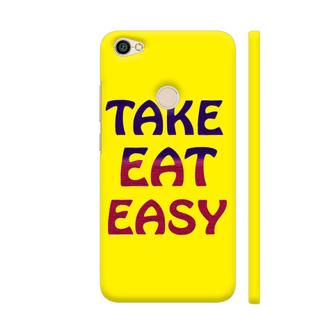 Take Eat Easy On Yellow Redmi Y1 Cover | Artist: Malls