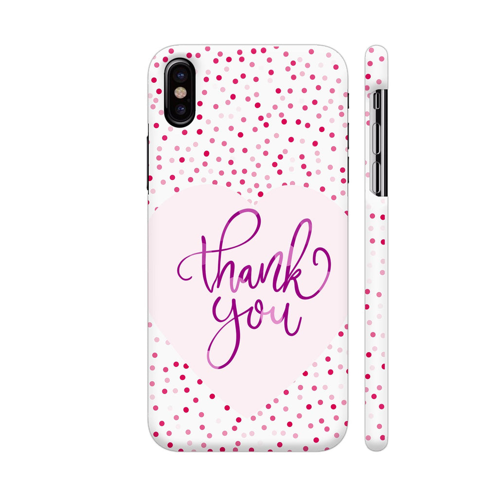 Colorpur Iphone X Cover Thank You Purple Dots Design Buy Online