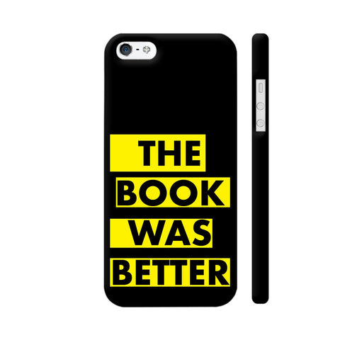 The Book Was Better On Black Yellow iPhone SE Cover | Artist: Nehal