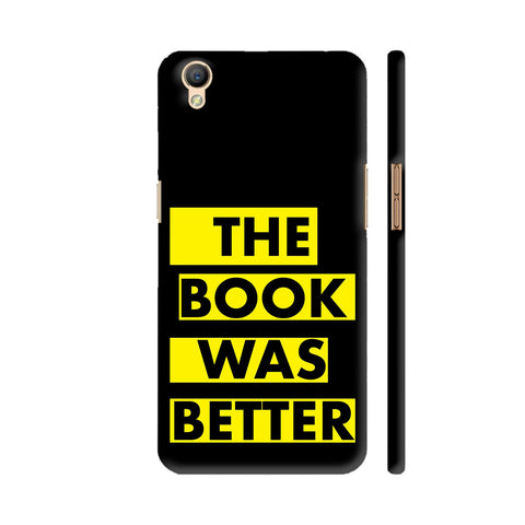 The Book Was Better On Black Yellow Oppo A37 Cover | Artist: Nehal