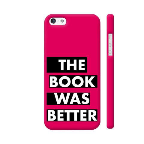 The Book Was Better On Pink iPhone SE Cover | Artist: Nehal
