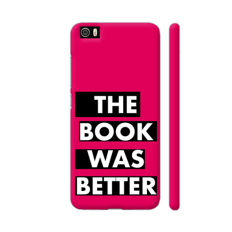 The Book Was Better On Pink Xiaomi Mi 5 Cover | Artist: Nehal