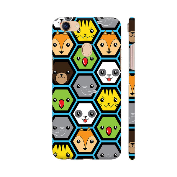 The Jungle Crew Honeycomb Oppo F5 Cover | Artist: Ninad Gawde