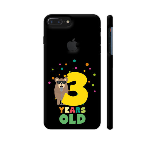 Three Years Third Birthday Party Grizzly iPhone 7 Plus Logo Cut Cover | Artist: Torben