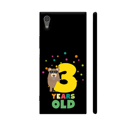 Three Years Third Birthday Party Grizzly Xperia XA1 Cover | Artist: Torben
