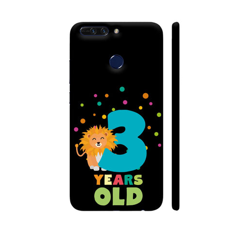 Three Years Third Birthday Party Lion Honor 8 Pro Cover | Artist: Torben