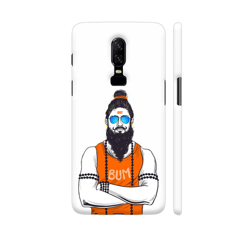 Traditional Baba In Western Avatar OnePlus 6 Cover | Artist: Tezzart