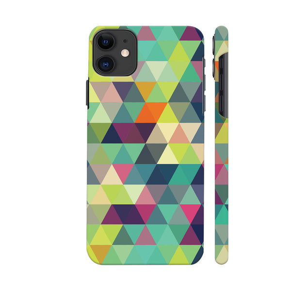 Trippy Triangles Multicolor iphone 11 Cover | Artist: Abhinav