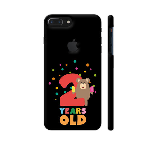 Two Years Second Birthday Party Grizzly iPhone 7 Plus Logo Cut Cover | Artist: Torben