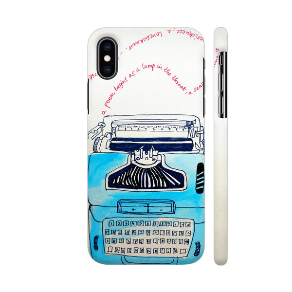 Typewriter iPhone XS Max Cover | Artist: PoloGeeBee
