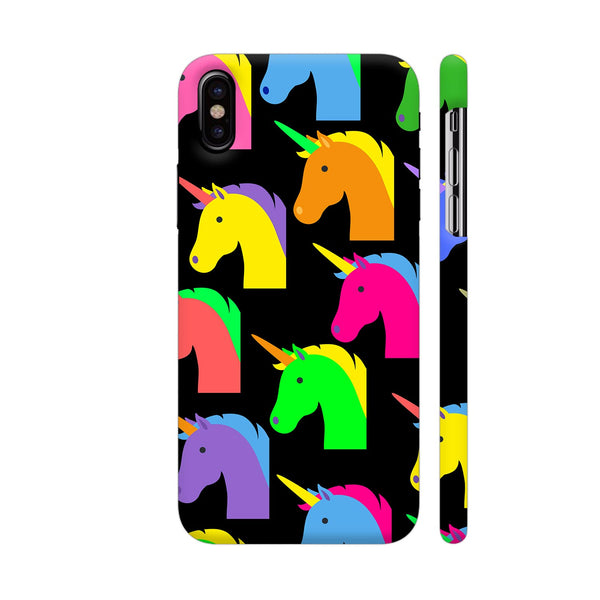 Unicorn Pattern On Black iPhone X Cover | Artist: Malls
