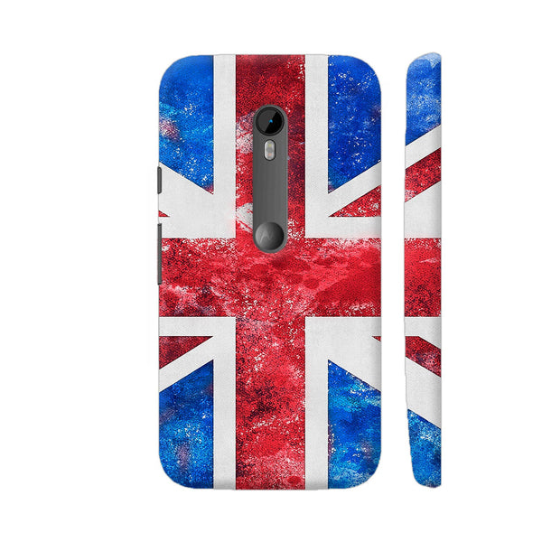Union Jack British Flag Grunge Moto G Turbo Cover | Artist: LebensART