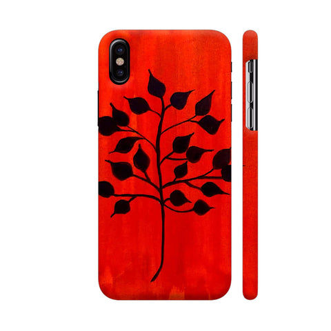 Vintage Black Leaves iPhone X Cover | Artist: DoodleBug