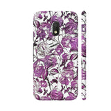 Vintage Purple Flower Pattern Moto G4 Play Cover | Artist: LebensART