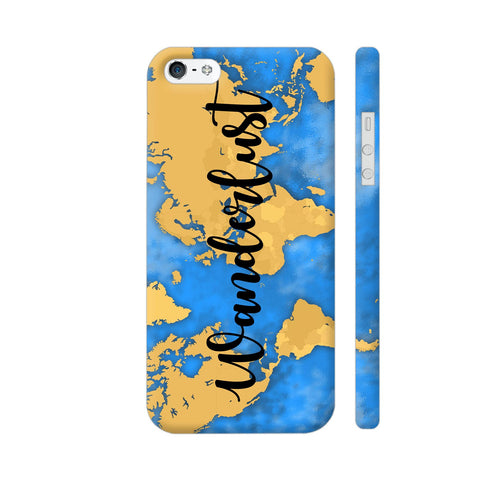 Wanderlust Map iPhone SE Cover | Artist: Ashish Singh
