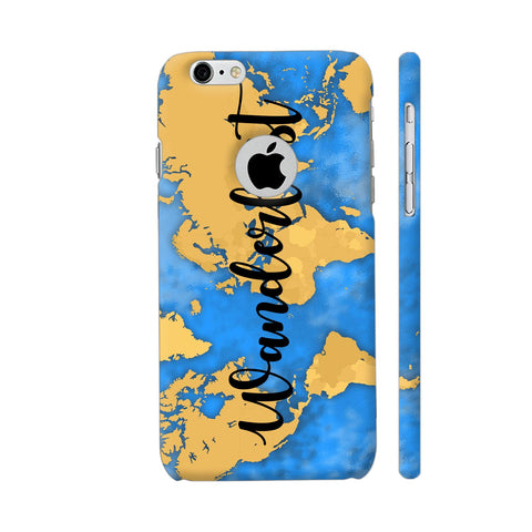 Wanderlust Map iPhone 6 / 6s Logo Cut Cover | Artist: Ashish Singh