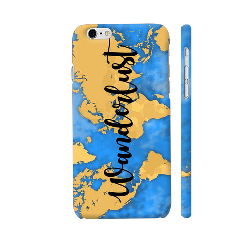 Wanderlust Map iPhone 6 / 6s Cover | Artist: Ashish Singh