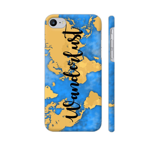 Wanderlust Map iPhone 7 Cover | Artist: Ashish Singh