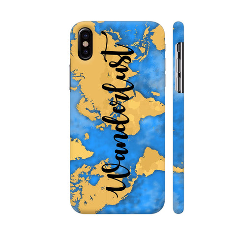 Wanderlust Map iPhone X Cover | Artist: Ashish Singh