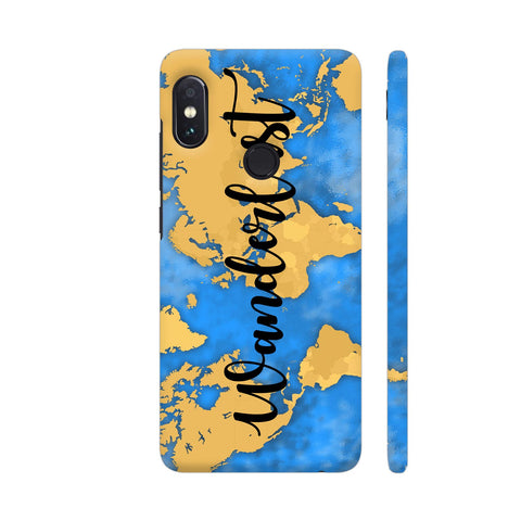 Wanderlust Map Redmi Note 5 Pro Cover | Artist: Ashish Singh