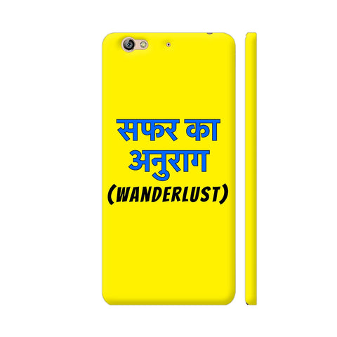 Wanderlust Safar Ka Anurag On Yellow Gionee S6 Cover | Artist: Malls