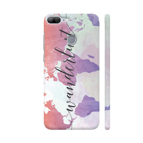 Wanderlust Travel World Map Honor 9 Lite Cover | Artist: Adeela Abdul Razak