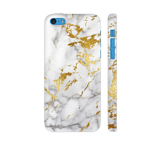 White And Gold Marble Print 1 iPhone 5c Cover | Artist: UtART